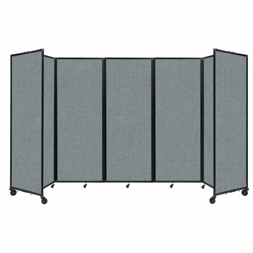 """Room Divider 360 Folding Portable Partition 14' x 7'6"""" Sea Green Fabric"""