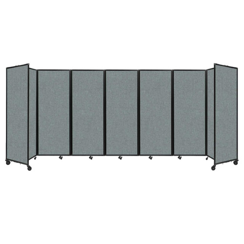 """Room Divider 360 Folding Portable Partition 19'6"""" x 7'6"""" Sea Green Fabric"""