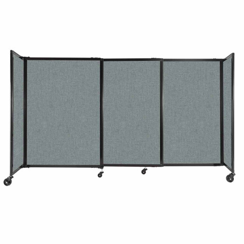 """StraightWall Sliding Portable Partition 7'2"""" x 4' Sea Green Fabric"""