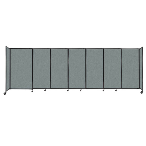 """StraightWall Sliding Portable Partition 15'6"""" x 5' Sea Green Fabric"""