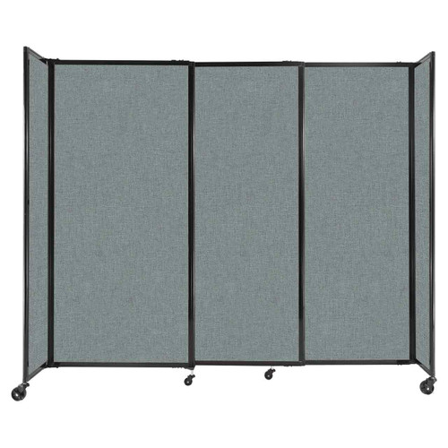 """StraightWall Sliding Portable Partition 7'2"""" x 6' Sea Green Fabric"""