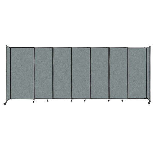 """StraightWall Sliding Portable Partition 15'6"""" x 6' Sea Green Fabric"""