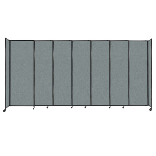 """StraightWall Sliding Portable Partition 15'6"""" x 7'6"""" Sea Green Fabric"""