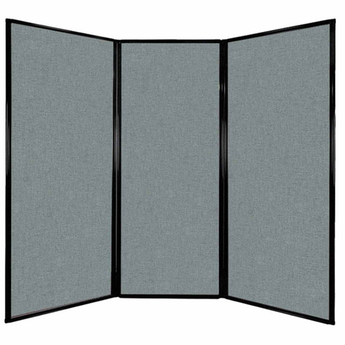 "Privacy Screen 7'6"" x 6'8"" Sea Green Fabric"