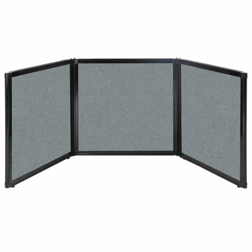 """Folding Tabletop Display 78"""" x 24"""" Sea Green Fabric"""