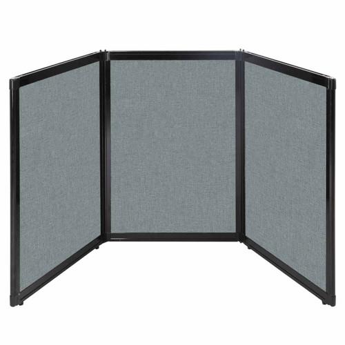 """Folding Tabletop Display 78"""" x 36"""" Sea Green Fabric"""