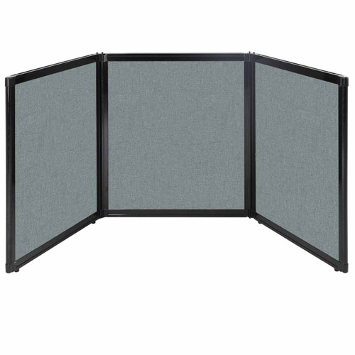 """Folding Tabletop Display 99"""" x 36"""" Sea Green Fabric"""