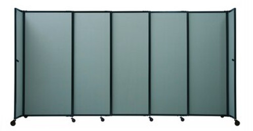 """The Bullet Resistant Portable Shield Partition 19'9"""" x 6'10"""" Sea Green Fabric"""