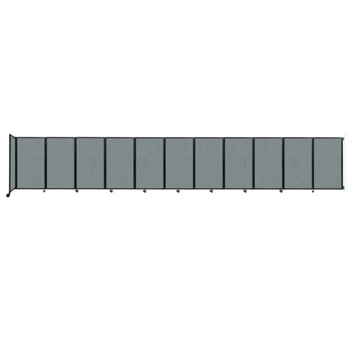 """Wall-Mounted Room Divider 360 Folding Partition 30'6"""" x 5' Sea Green Fabric"""