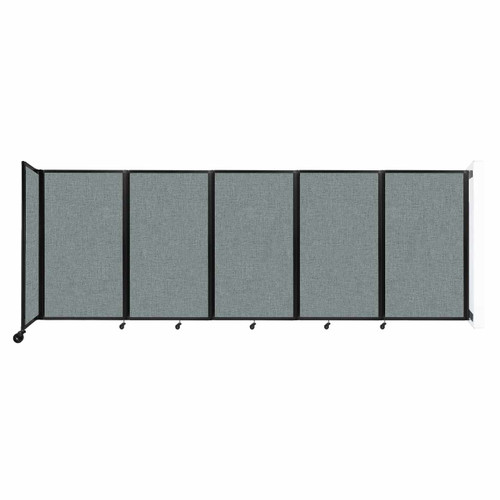 Wall-Mounted Room Divider 360 Folding Partition 14' x 5' Sea Green Fabric