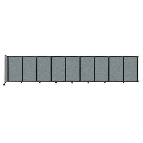 Wall-Mounted Room Divider 360 Folding Partition 25' x 5' Sea Green Fabric