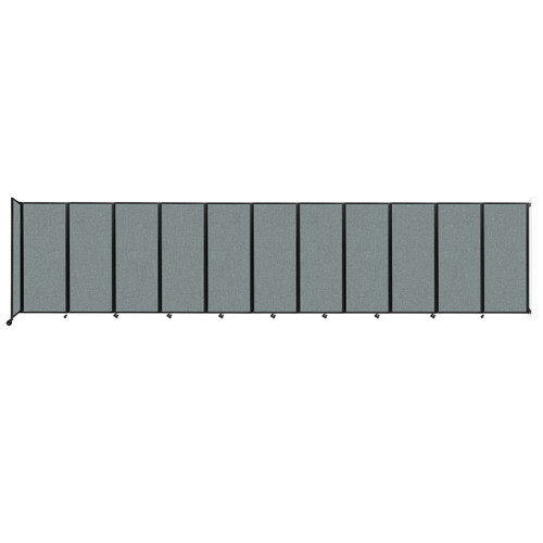 """Wall-Mounted Room Divider 360 Folding Partition 30'6"""" x 6'10"""" Sea Green Fabric"""