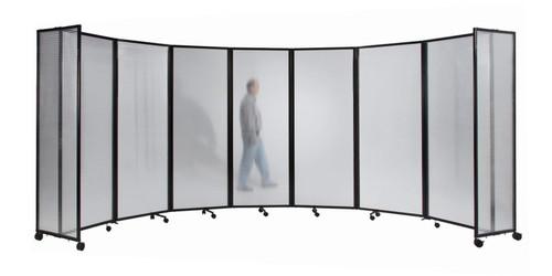 Polycarbonate Room Divider 360 Accordion Portable Partition