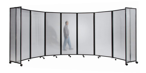 The Polycarbonate Room Divider 360 Folding Portable Partition