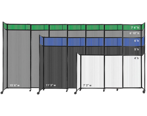 All widths and heights of the Polycarbonate StraightWall