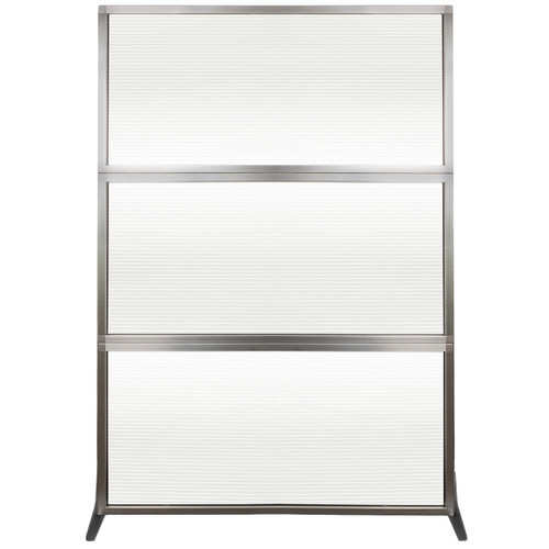 MediPanel Portable Divider 4' x 6' Clear Fluted Window Without Wheels