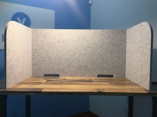 The SoundSorb Tri-Fold Desktop Privacy Panel is the perfect way to get some privacy in an open environment.
