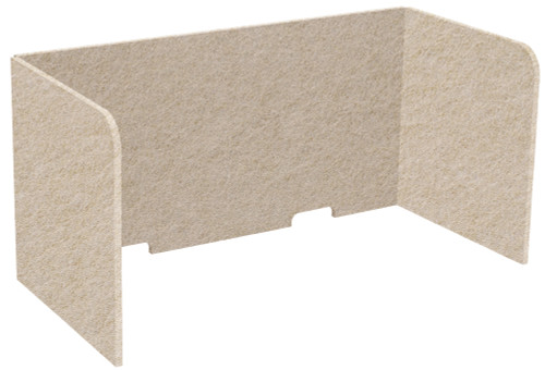 "SoundSorb Tri-Fold Desktop Privacy Panels 48"" x 24"" x 24"" Beige High Density Polyester"