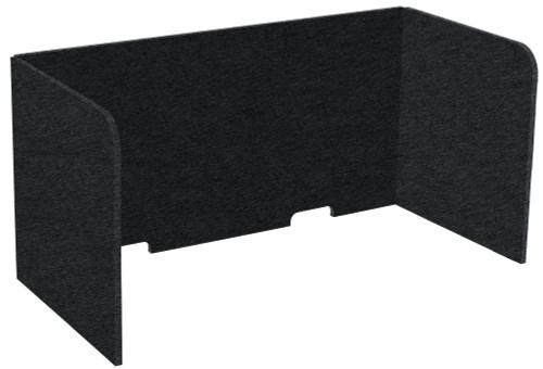 "SoundSorb Tri-Fold Desktop Privacy Panels 48"" x 24"" x 24"" Black High Density Polyester"