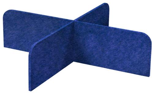 """SoundSorb X-Fit Desktop Privacy Panels 48"""" x 12"""" High Density Polyester Navy Blue"""