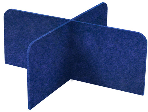 "SoundSorb X-Fit Desktop Privacy Panels 48"" x 24"" High Density Polyester Navy Blue"