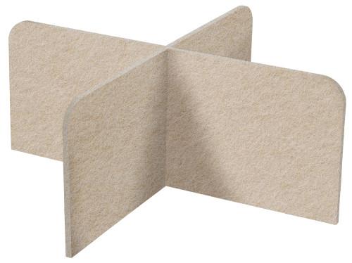 "SoundSorb X-Fit Desktop Privacy Panels 48"" x 24"" High Density Polyester Beige"