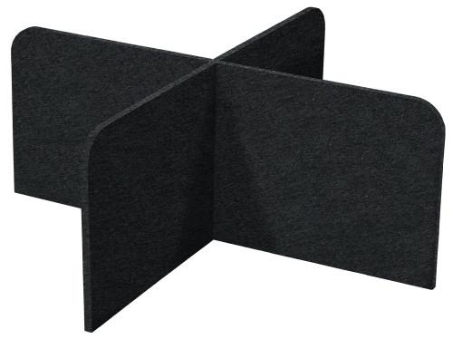 "SoundSorb X-Fit Desktop Privacy Panels 48"" x 24"" High Density Polyester Black"