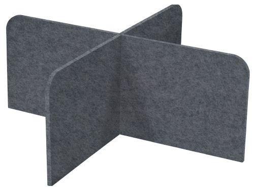 "SoundSorb X-Fit Desktop Privacy Panels 48"" x 24"" High Density Polyester Dark Gray"