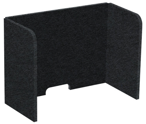 "SoundSorb Tri-Fold Desktop Privacy Panels 24"" x 18"" x 12"" Black High Density Polyester"