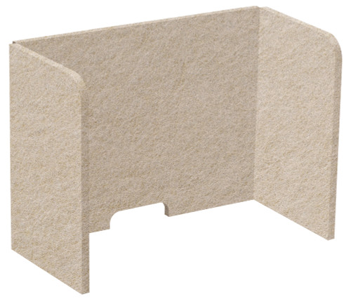 "SoundSorb Tri-Fold Desktop Privacy Panels 24"" x 18"" x 12"" Beige High Density Polyester"