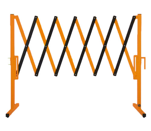 The Protector Portable Safety Gate 11' x 4' Orange Steel Without Wheels