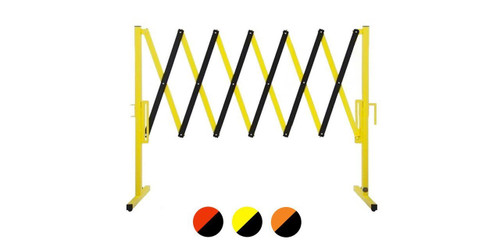 The Protector Portable Safety Gate 11' x 4' Orange Steel With Wheels