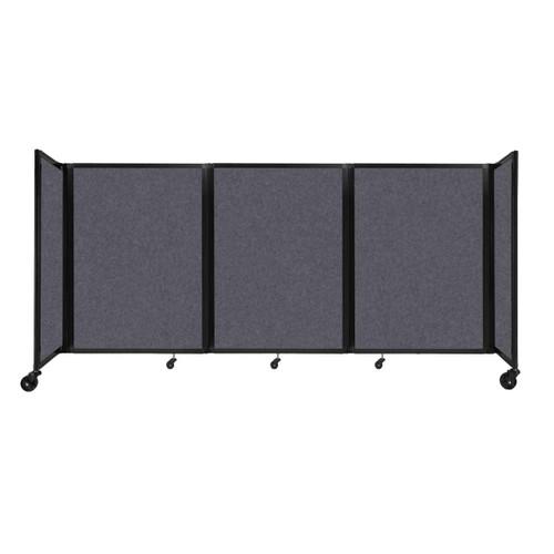 "SoundSorb Room Divider 360 Folding Partition 8'6"" x 4' Dark Gray High Density Polyester"