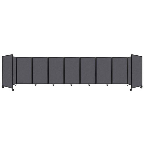 SoundSorb Room Divider 360 Folding Partition 25' x 5' Dark Gray High Density Polyester