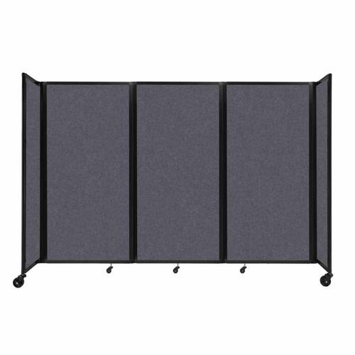 "SoundSorb Room Divider 360 Folding Partition 8'6"" x 6' Dark Gray High Density Polyester"