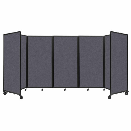 SoundSorb Room Divider 360 Folding Partition 14' x 6' Dark Gray High Density Polyester