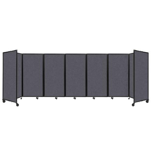"SoundSorb Room Divider 360 Folding Partition 19'6"" x 6' Dark Gray High Density Polyester"