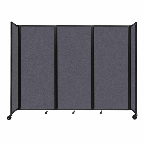 "SoundSorb Room Divider 360 Folding Partition 8'6"" x 6'10"" Dark Gray High Density Polyester"