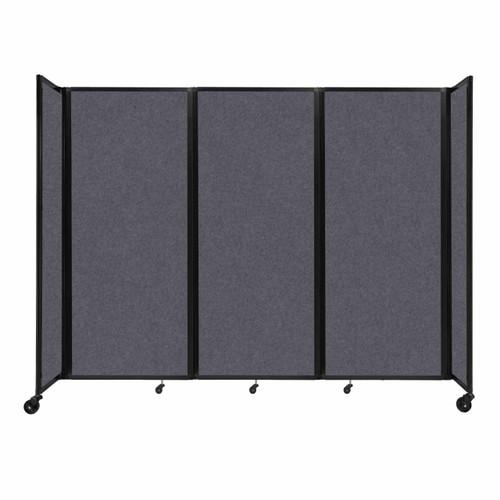 "SoundSorb Room Divider 360 Folding Partition 8'6"" x 6'10"" Dark Gray High Density Polyester"