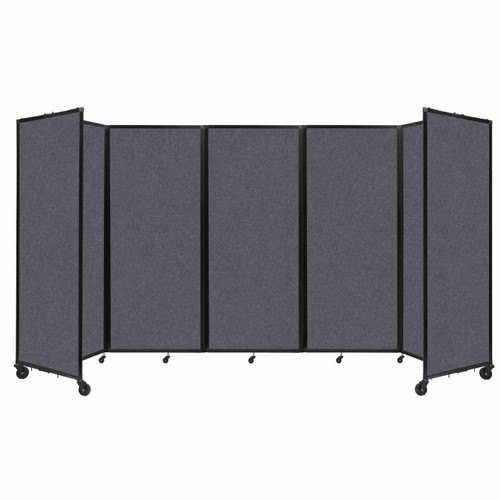 "SoundSorb Room Divider 360 Folding Partition 14' x 6'10"" Dark Gray High Density Polyester"