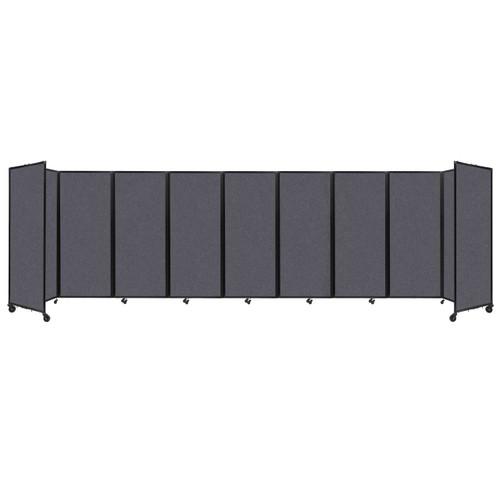 "SoundSorb Room Divider 360 Folding Partition 25' x 6'10"" Dark Gray High Density Polyester"