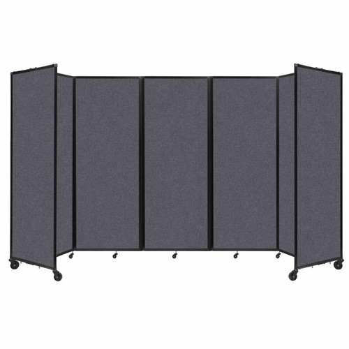 "SoundSorb Room Divider 360 Folding Partition 14' x 7'6"" Dark Gray High Density Polyester"