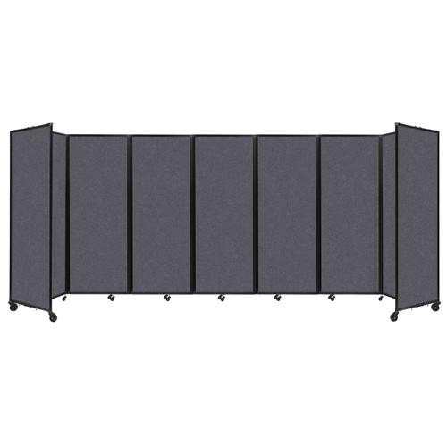 "SoundSorb Room Divider 360 Folding Partition 19'6"" x 7'6"" Dark Gray High Density Polyester"