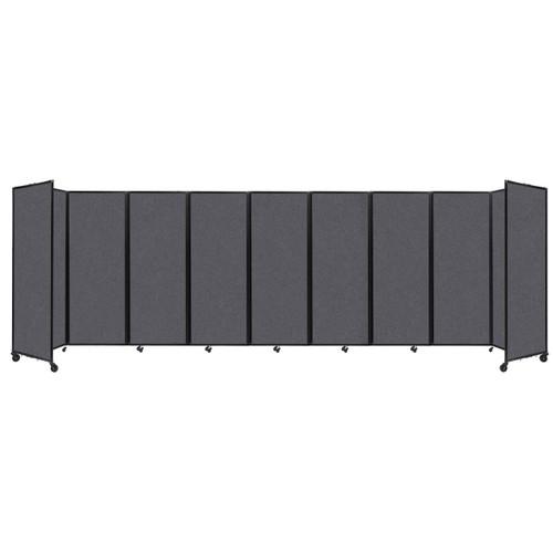 "SoundSorb Room Divider 360 Folding Partition 25' x 7'6"" Dark Gray High Density Polyester"