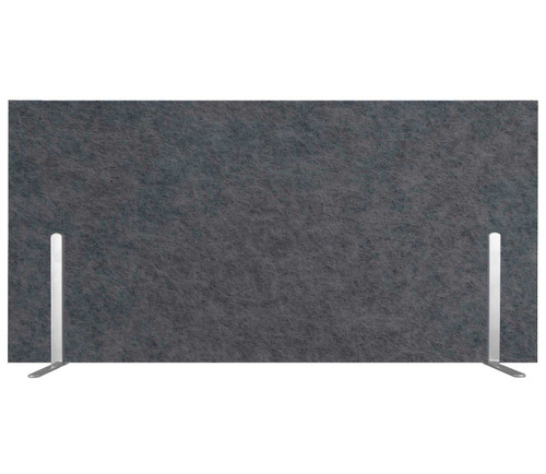"SoundSorb Desktop Privacy Panels 24"" x 12"" Dark Gray High Density Polyester Freestanding"