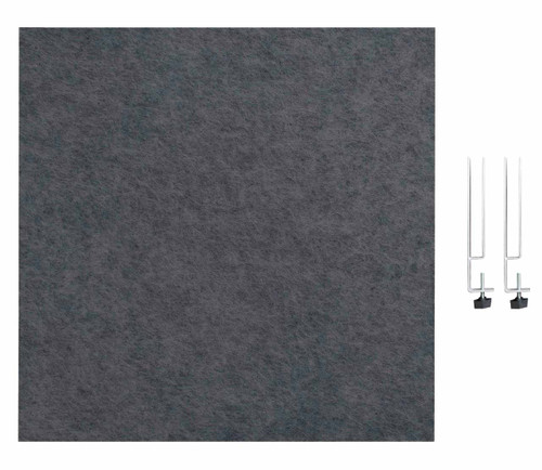 "SoundSorb Desktop Privacy Panels 24"" x 24"" Dark Gray High Density Polyester Edge Clip"