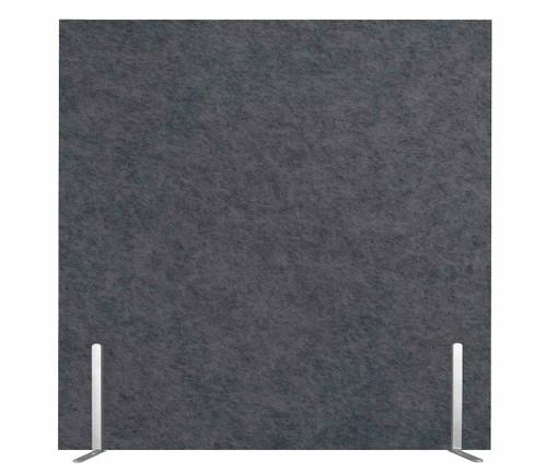 "SoundSorb Desktop Privacy Panels 24"" x 24"" Dark Gray High Density Polyester Freestanding"