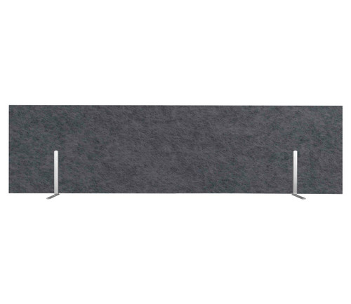 "SoundSorb Desktop Privacy Panels 48"" x 12"" Dark Gray High Density Polyester Freestanding"