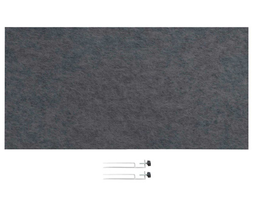 "SoundSorb Desktop Privacy Panels 48"" x 24"" Dark Gray High Density Polyester Edge Clip"