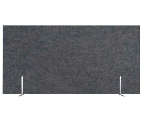 "SoundSorb Desktop Privacy Panels 48"" x 24"" Dark Gray High Density Polyester Freestanding"